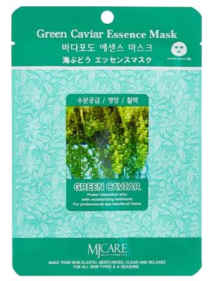 Маска тканевая морской виноград Mijin Green Caviar Essence Mask 23г: фото