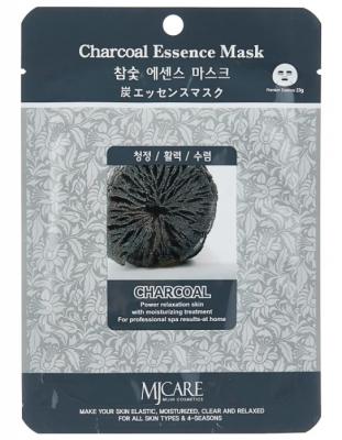 Маска тканевая древесный уголь Mijin Charcoal Essence Mask 23г: фото