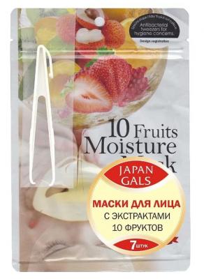 Маска с экстрактами 10 фруктов JAPAN GALS Pure5 Essential 7 шт: фото