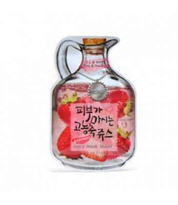 Маска тканевая с клубникой Baviphat Strawberry Juicy Mask Sheetpore & trouble 23гр: фото