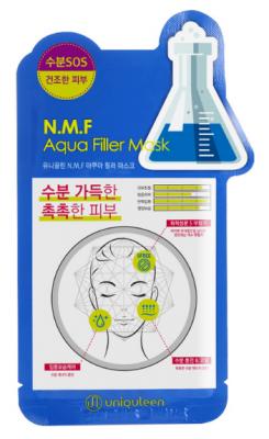 Маска для лица тканевая увлажняющая Mijin Uniquleen N.M.F. Aqua Filler Mask 26г: фото