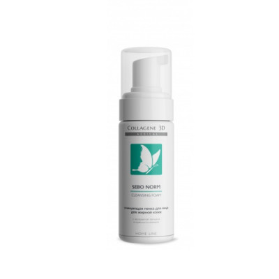 Пенка очищающая для жирной кожи Collagene 3D SEBO NORM 160 мл: фото