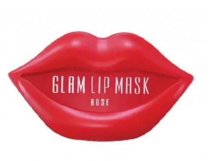 Маска-патч для губ BeauuGreen Hydrogel Glam Lip Mask - Rose 20pairs: фото