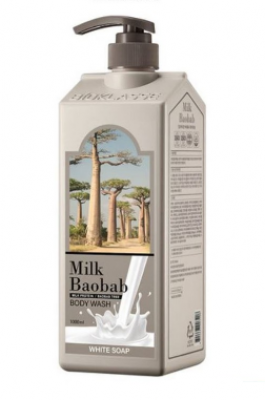 Гель для душа с белым мылом Milk Baobab Original Body Wash White Soap 1000мл: фото