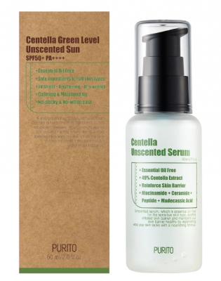 Сыворотка с центеллой для гиперчувствительной кожи PURITO Centella Unscented Serum 60мл: фото