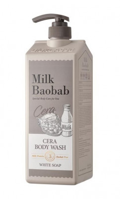 Гель для душа с керамидами, с ароматом белого мыла MILK BAOBAB Cera Body Wash White Soap 1200 мл: фото