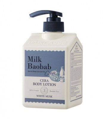 Лосьон для тела с керамидами, с ароматом белого мускуса MILK BAOBAB Cera Body Lotion White Musk 600 мл: фото