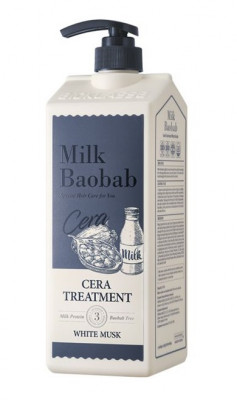 Бальзам для волос с керамидами, с ароматом белого мускуса MILK BAOBAB Cera Treatment White Musk 1200 мл: фото